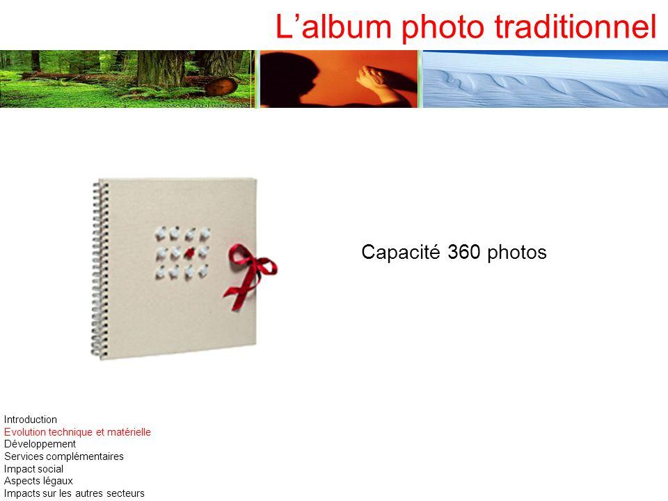 Lalbum photo traditionnel Capacité 360 photos Introduction Evolution technique et matérielle Développement Services complémentaires Impact social Aspe