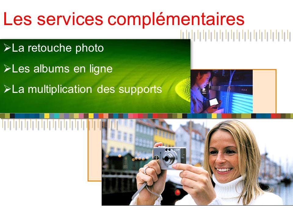 Les services complémentaires La retouche photo Les albums en ligne La multiplication des supports