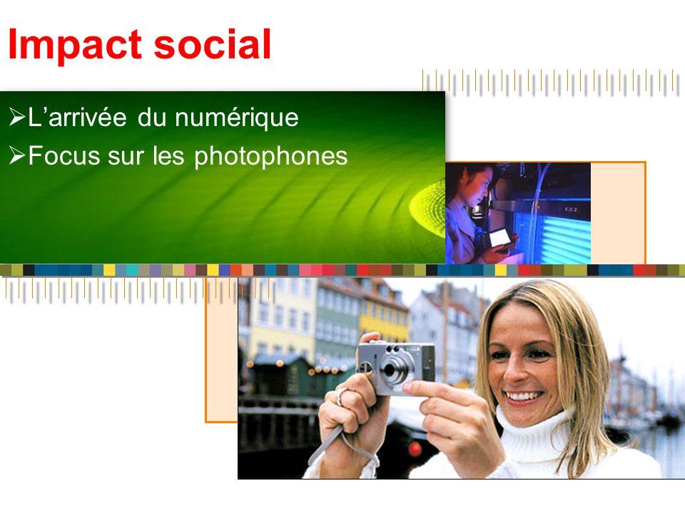 Impact social Larrivée du numérique Focus sur les photophones