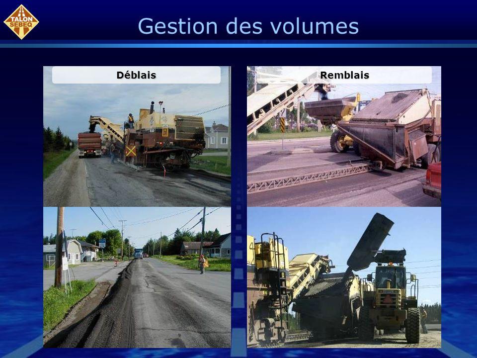 Gestion des volumes DéblaisRemblais