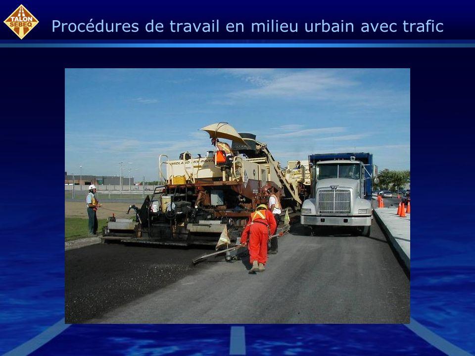 Procédures de travail en milieu urbain avec trafic