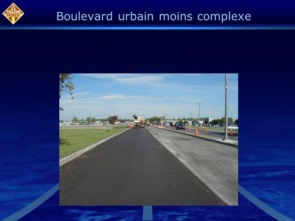 Boulevard urbain moins complexe