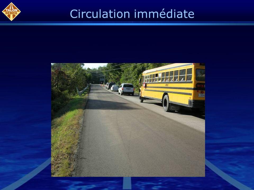 Circulation immédiate