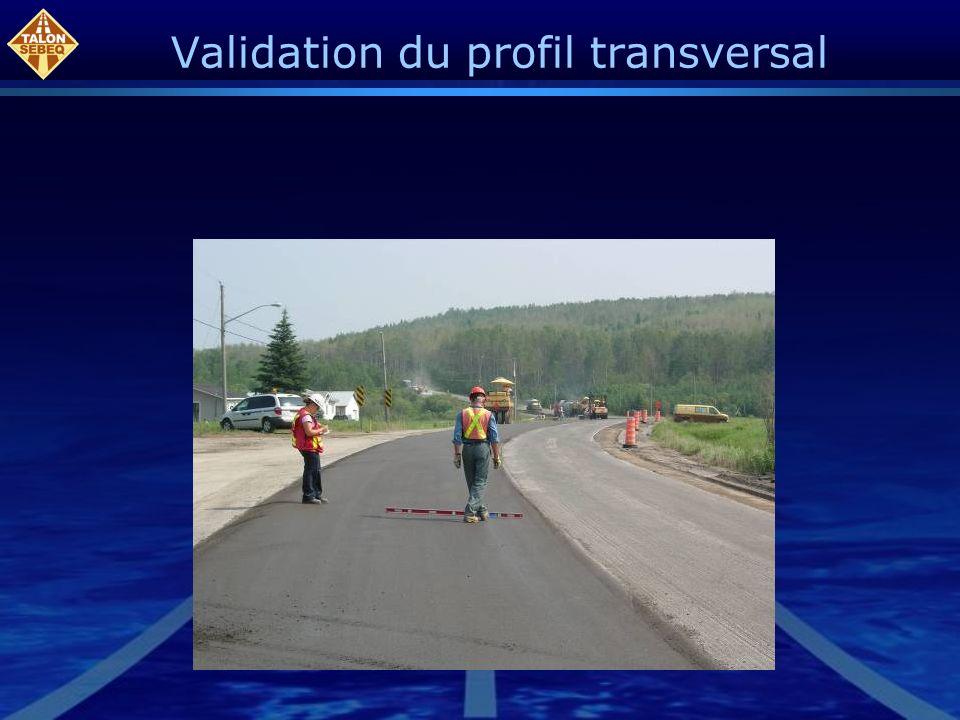 Validation du profil transversal