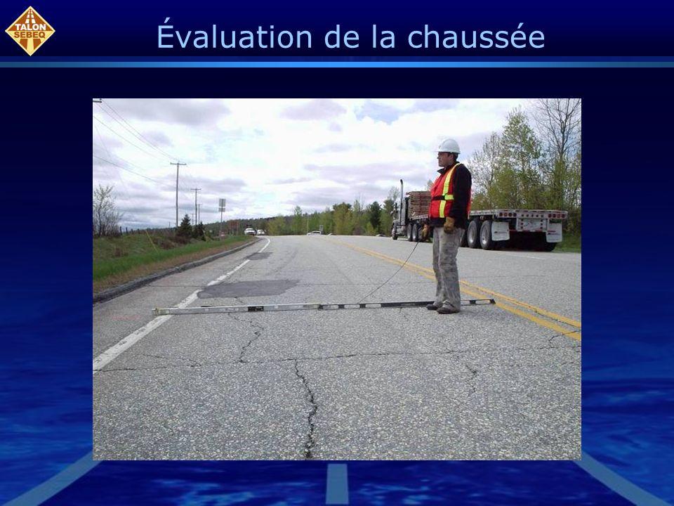Les profils routiers peuvent être produits à une fréquence de 2 mètres La figure suivante montre les points servant aux calculs des pentes.