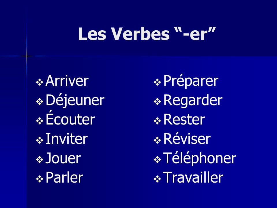 Conjugating ER Verbs Steps to conjugating regular verbs: 1.
