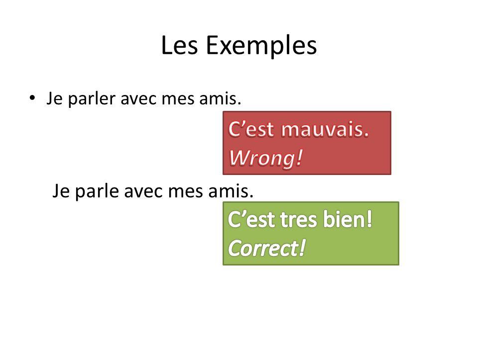 -ER Verbs VOUS PARL__ Si la sujet avant la verbe est VOUS… If the subject before the verb is VOUS…