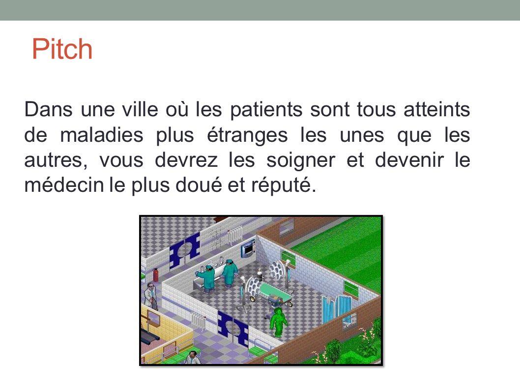 Pitch Dans une ville où les patients sont tous atteints de maladies plus étranges les unes que les autres, vous devrez les soigner et devenir le médecin le plus doué et réputé.