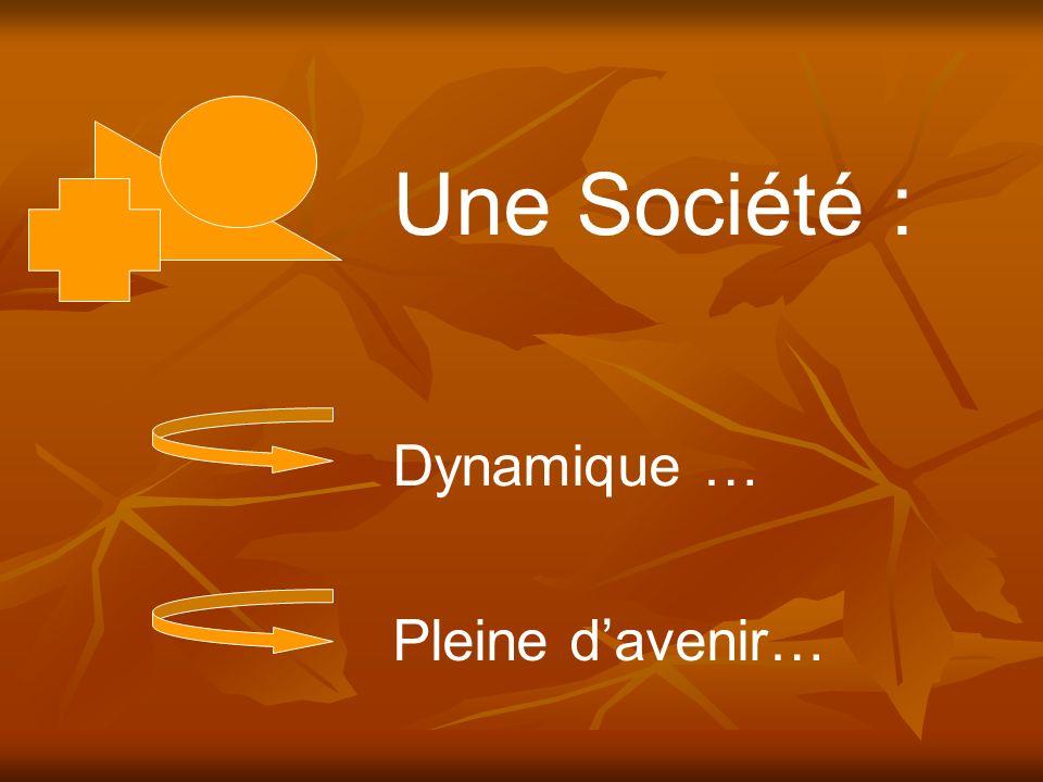 Dynamique … Pleine davenir… Une Société :