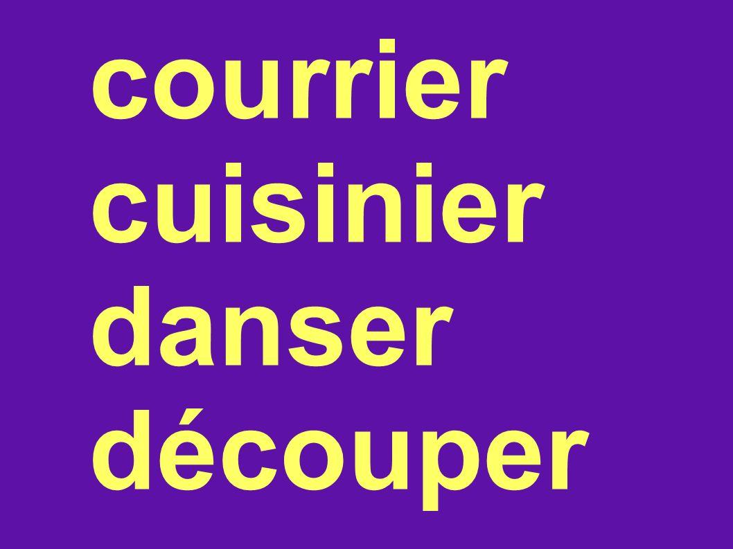 courrier cuisinier danser découper