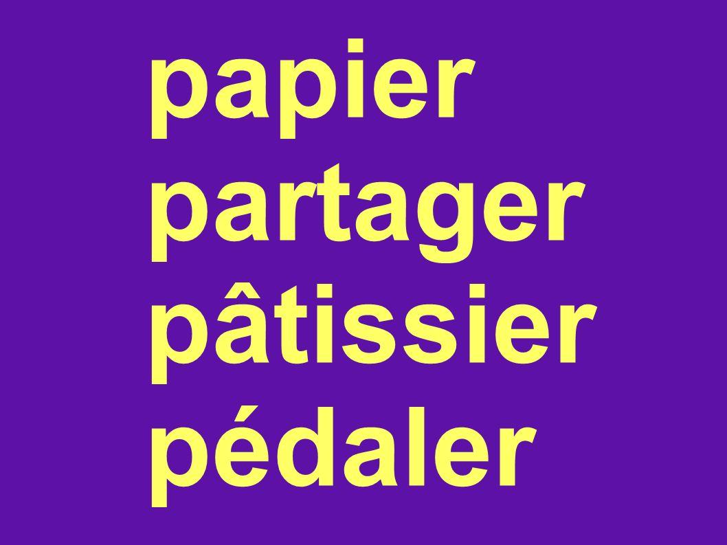 papier partager pâtissier pédaler