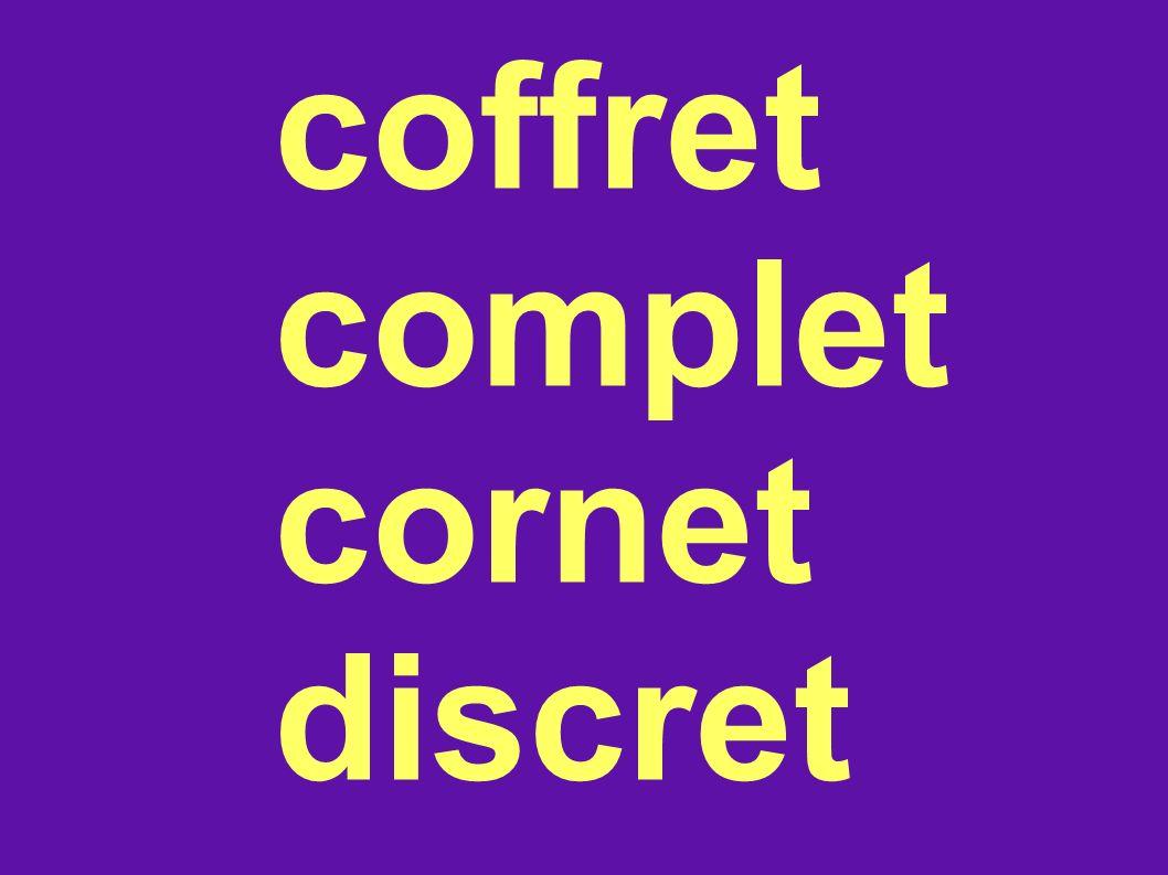 coffret complet cornet discret