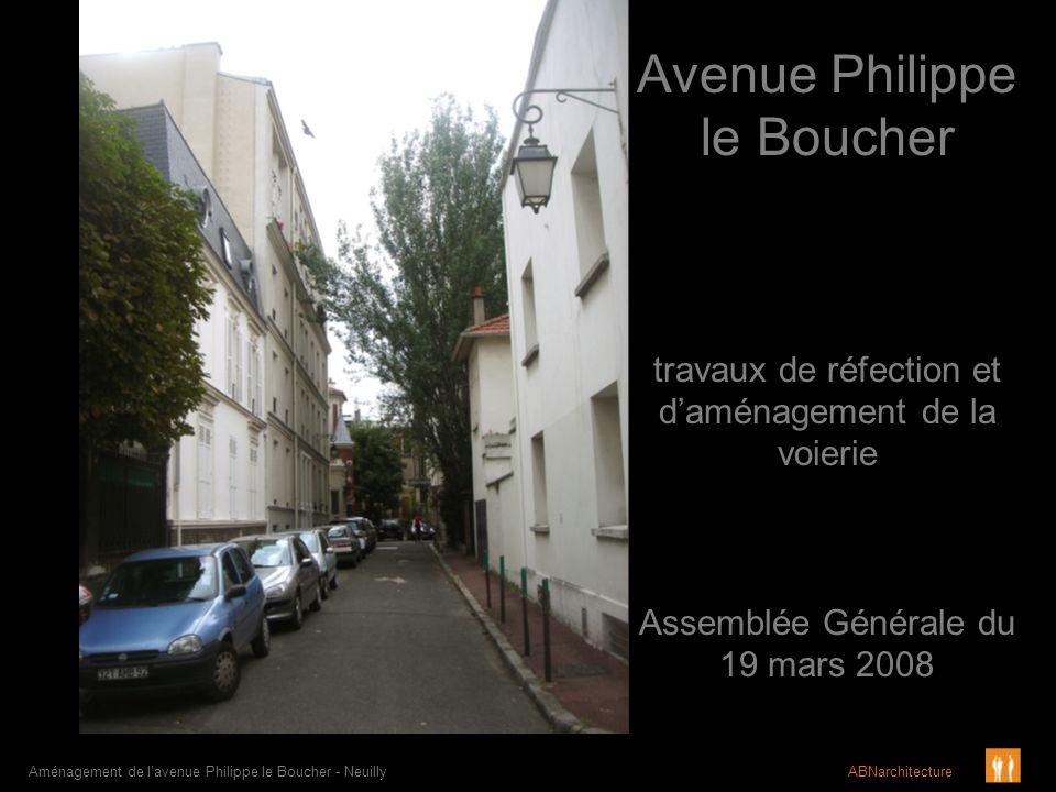 Avenue Philippe le Boucher Aménagement de lavenue Philippe le Boucher - Neuilly ABNarchitecture travaux de réfection et daménagement de la voierie Ass