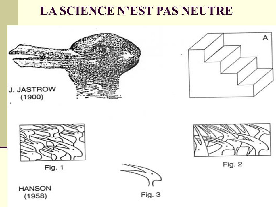 LA SCIENCE NEST PAS NEUTRE