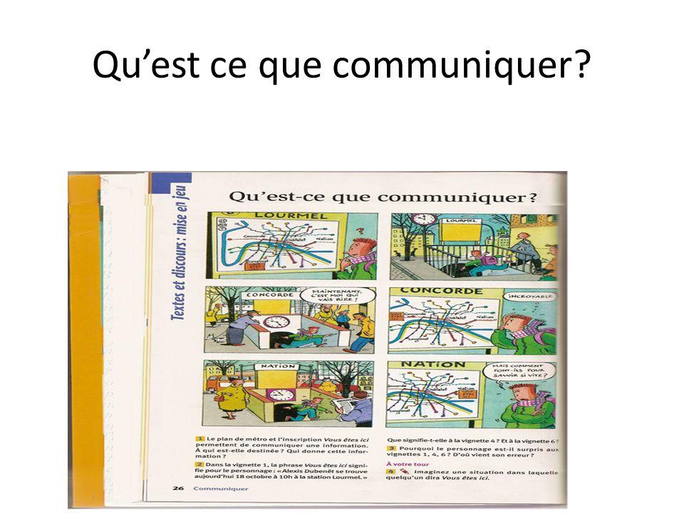 Quest ce que communiquer?