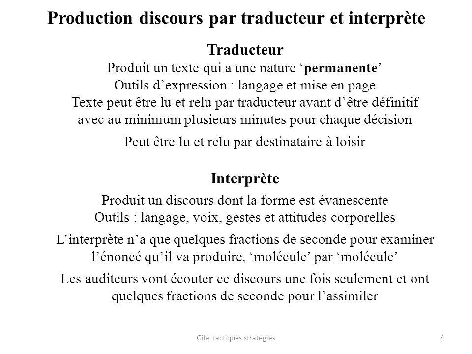 Production discours par traducteur et interprète Traducteur Produit un texte qui a une nature permanente Outils dexpression : langage et mise en page