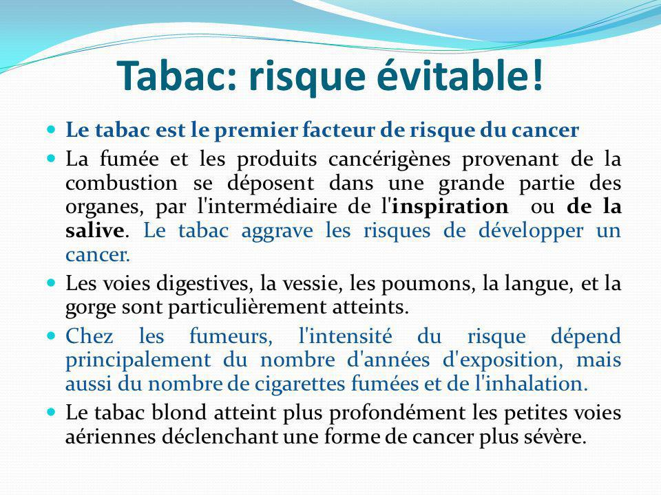 Tabac: risque évitable.