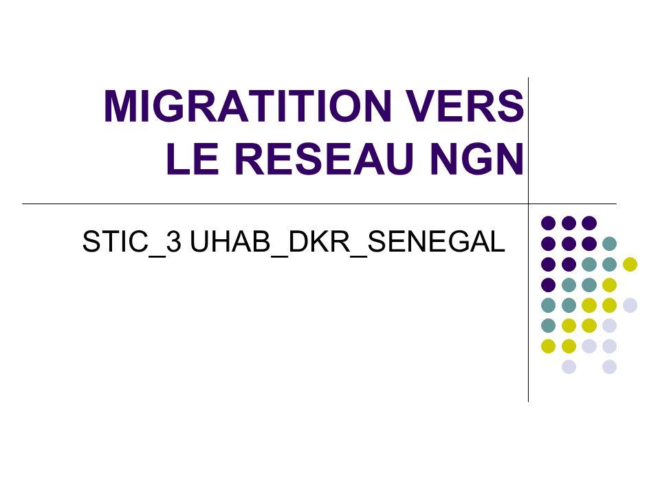 MIGRATITION VERS LE RESEAU NGN STIC_3 UHAB_DKR_SENEGAL
