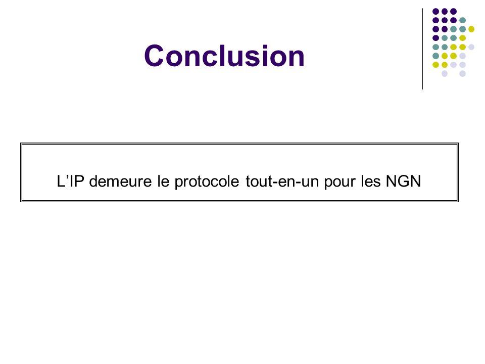 Conclusion LIP demeure le protocole tout-en-un pour les NGN