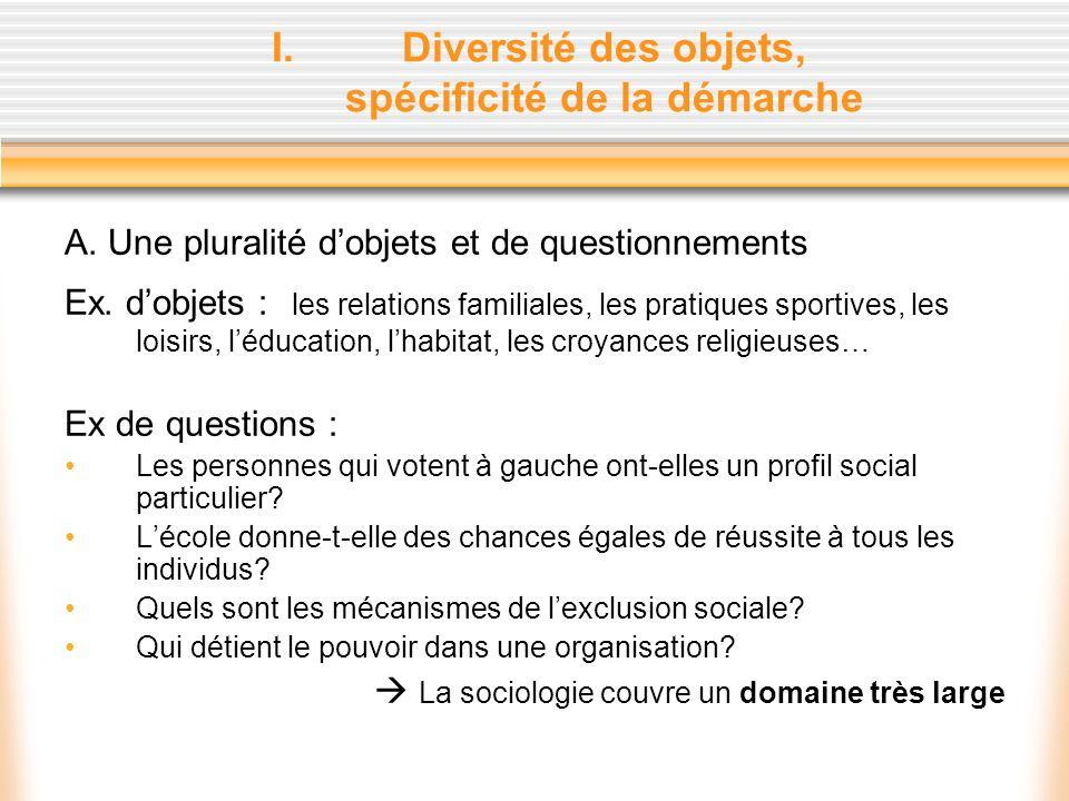 II.Une démarche danalyse scientifique du social 1.Des données chiffrées : Données brutes (ex.
