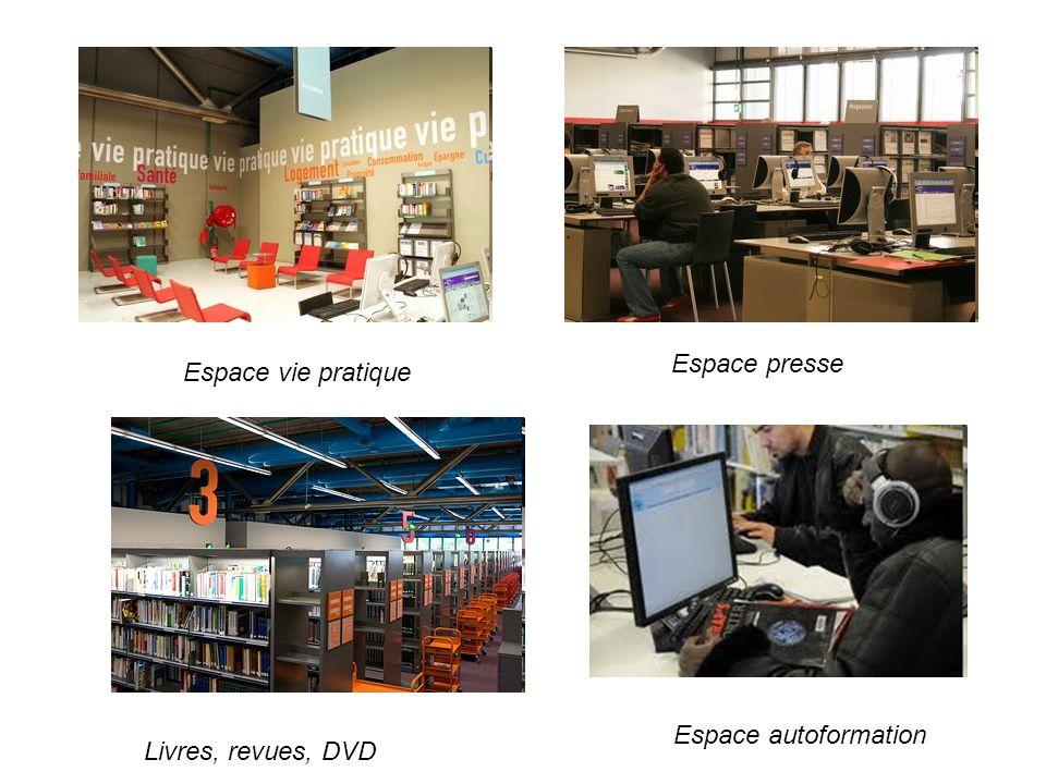 Espace presse Espace vie pratique Espace autoformation Livres, revues, DVD