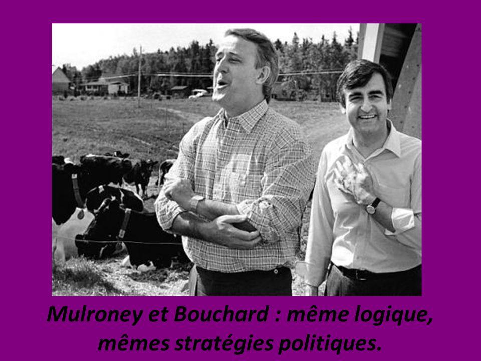 Mulroney et Bouchard : même logique, mêmes stratégies politiques.
