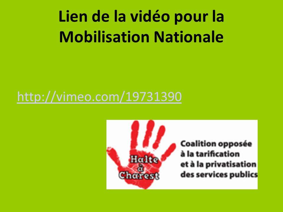 Lien de la vidéo pour la Mobilisation Nationale http://vimeo.com/19731390