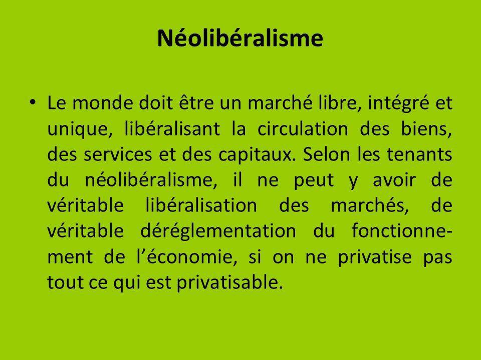 Ces deux institutions internationales doivent sassurer du « bon fonctionnement » de la mondialisation des marchés et du capital.