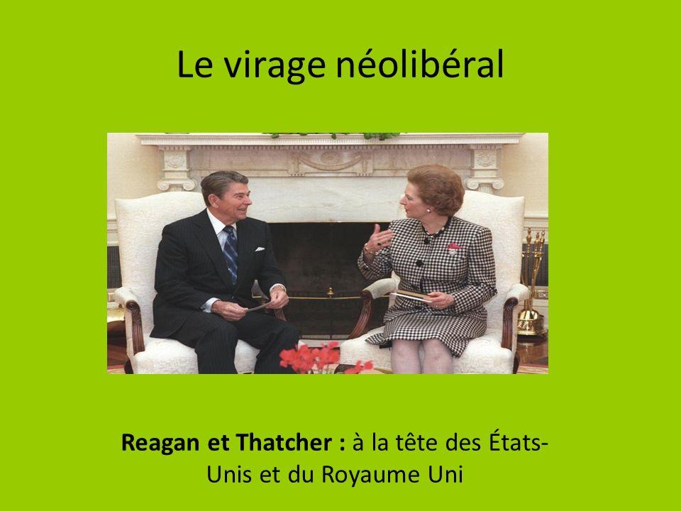 Le virage néolibéral Reagan et Thatcher : à la tête des États- Unis et du Royaume Uni