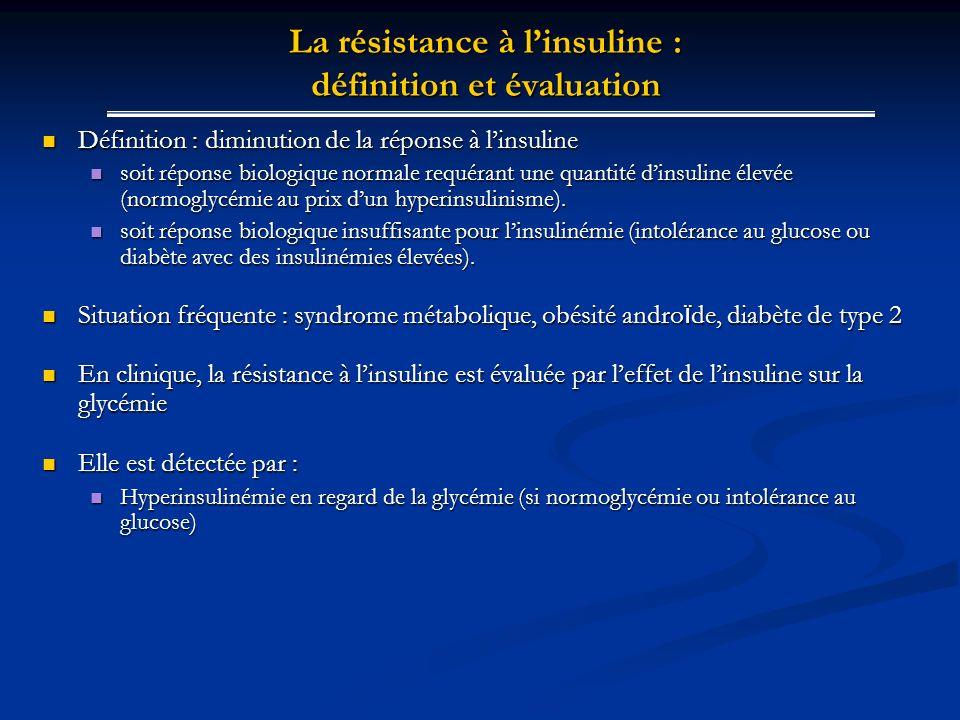 Définition : diminution de la réponse à linsuline Définition : diminution de la réponse à linsuline soit réponse biologique normale requérant une quan