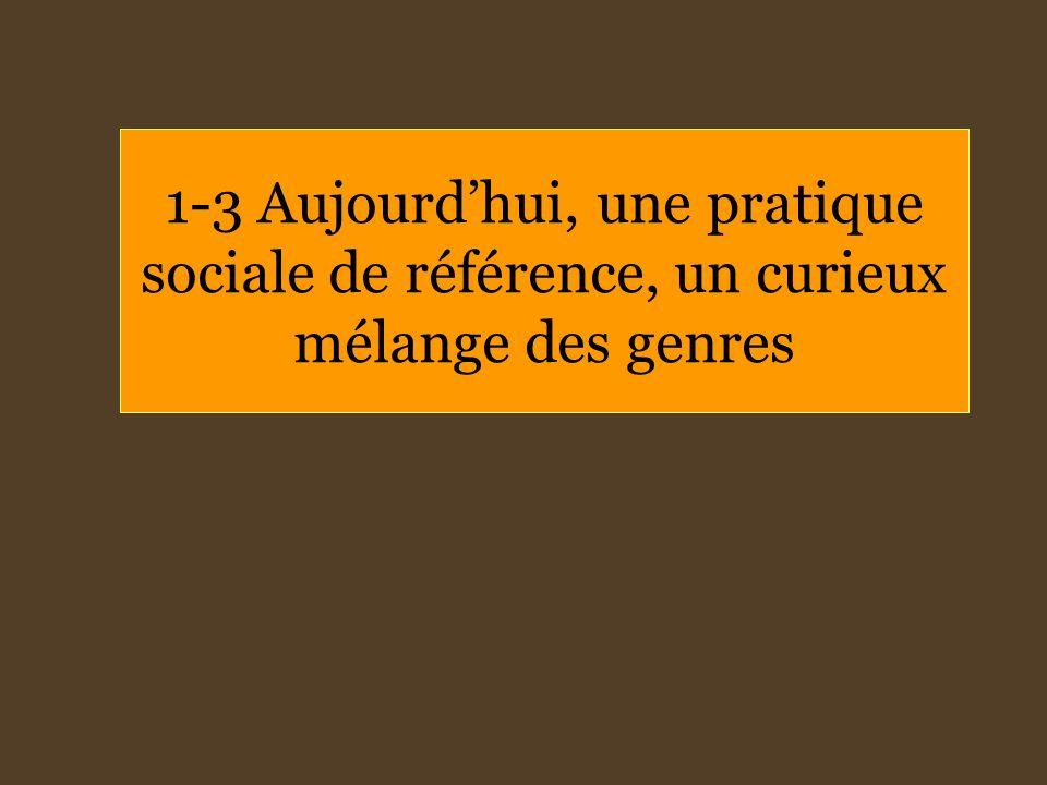 1-3 Aujourdhui, une pratique sociale de référence, un curieux mélange des genres