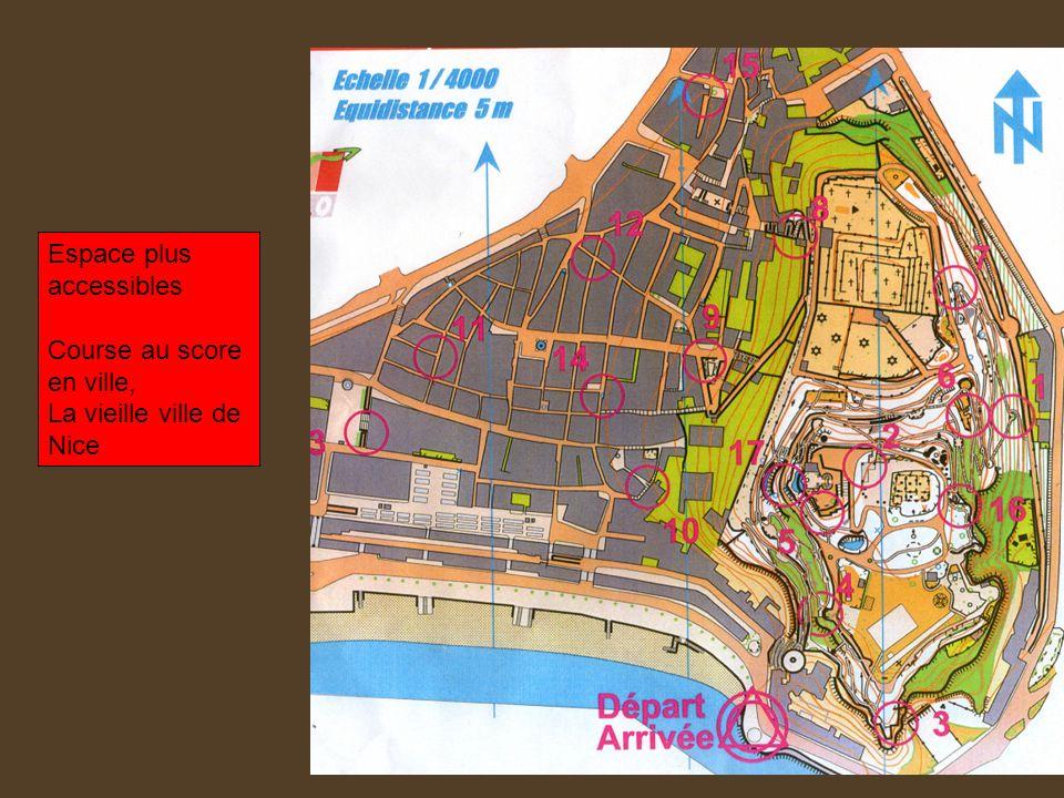 Espace plus accessibles Course au score en ville, La vieille ville de Nice