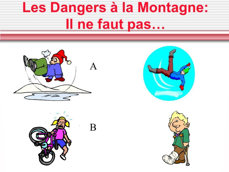 Les Dangers à la Montagne: Il ne faut pas… A B