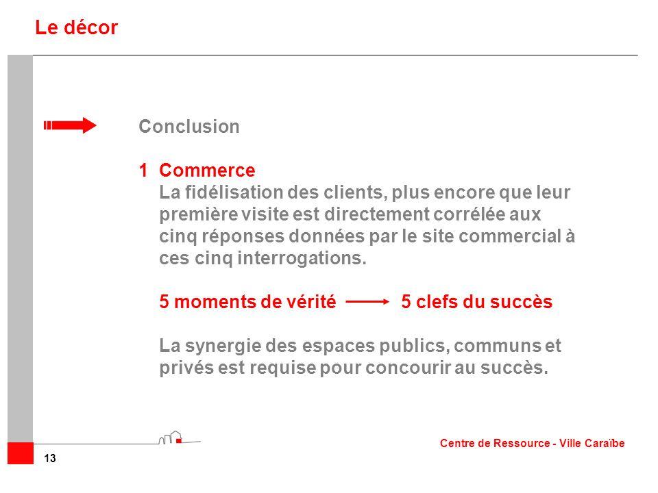 Conclusion 1Commerce La fidélisation des clients, plus encore que leur première visite est directement corrélée aux cinq réponses données par le site