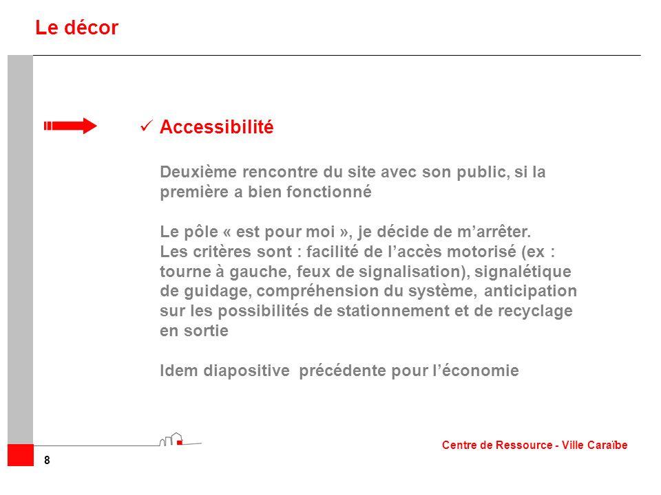 Accessibilité Deuxième rencontre du site avec son public, si la première a bien fonctionné Le pôle « est pour moi », je décide de marrêter. Les critèr