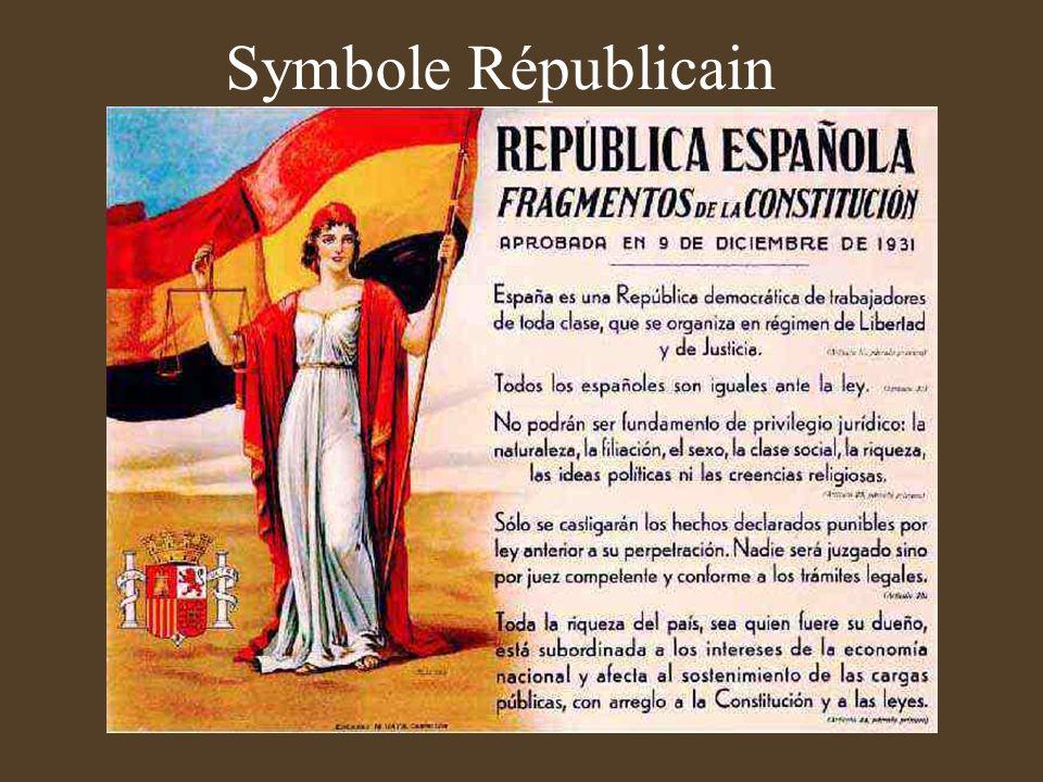 Symboles du Franquisme la Phalange Drapeau de la Phalange Mouvement fascisant