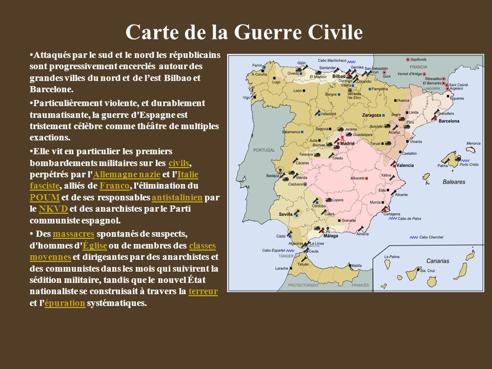 Genèse de la Guerre civile Une jeune république fragile. Une Espagne divisée en droite hyper catholique et gauche ultra républicaine 1934 1935-1936 :
