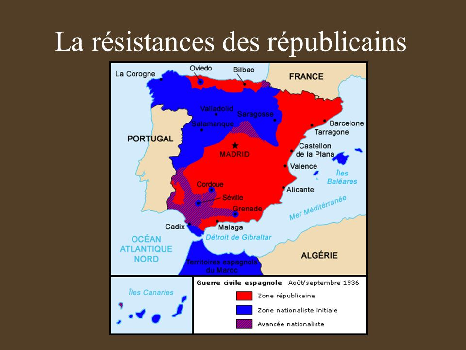 LIntervention étrangère France: Léon Blum favorable aux républicains espagnols doit reculer devant la droite catholique. Italie : Mussolini envoie 75.
