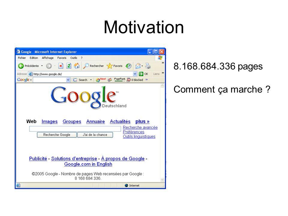 Motivation 8.168.684.336 pages Comment ça marche ?