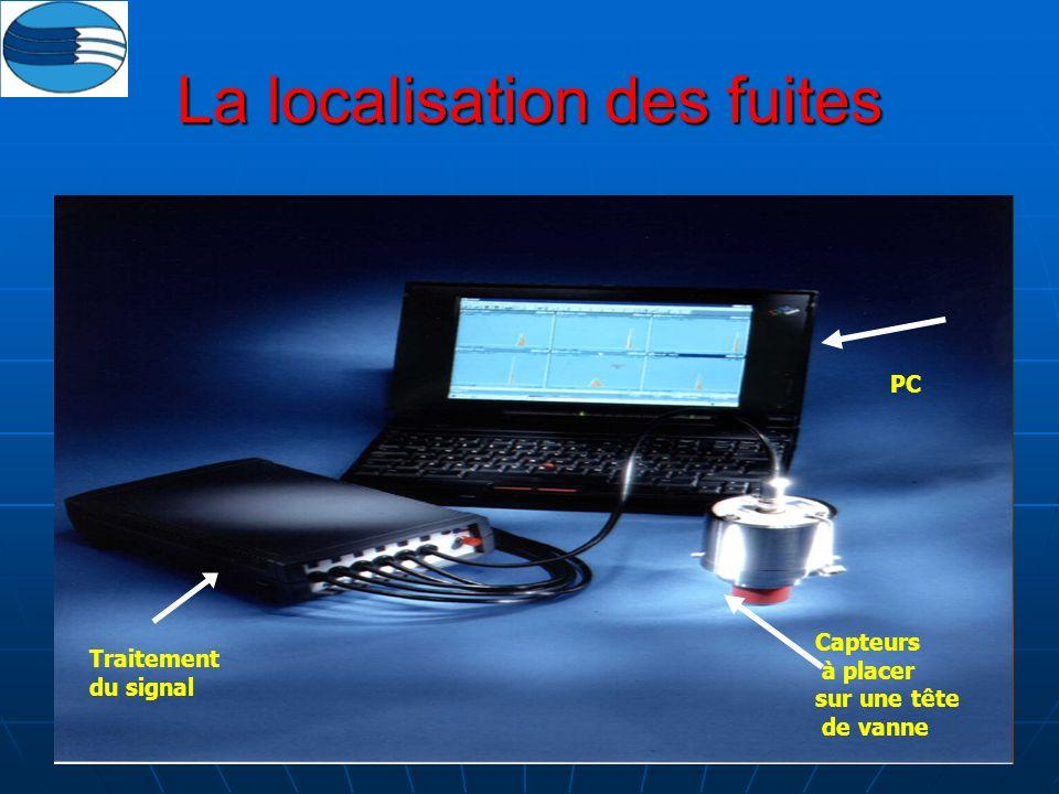 66 La localisation des fuites Traitement du signal Capteurs à placer sur une tête de vanne PC