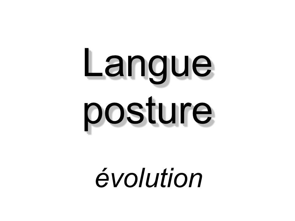 Langue posture évolution