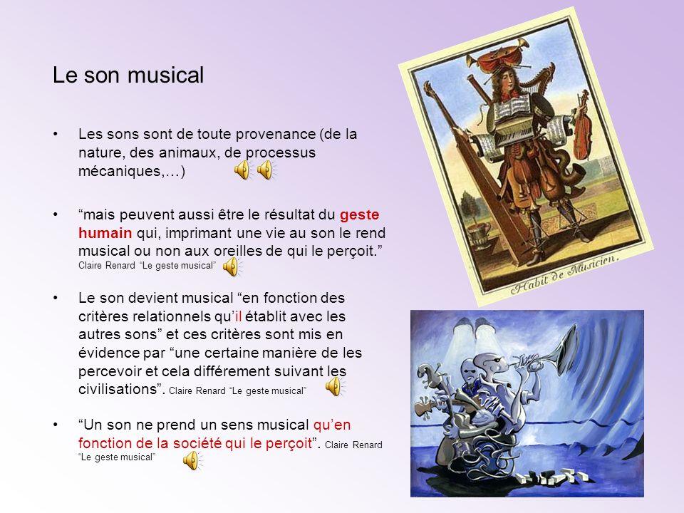 le son est créé dans le cerveau Alain Boudet http://aboudet.chez-alice.fr/doc_musique/son-nature.html Le son est tout d abord une sensation.