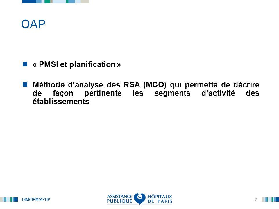 DIM/DPM/APHP 3 OAP : méthodologie de construction (version 1.2)
