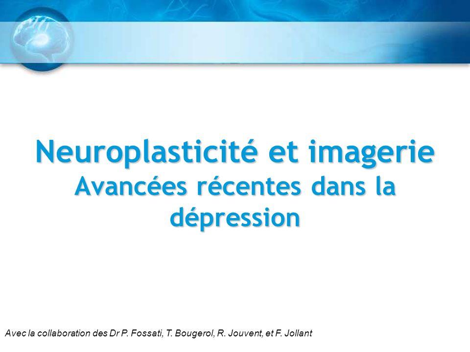 Neuroplasticité et imagerie Avancées récentes dans la dépression Avec la collaboration des Dr P. Fossati, T. Bougerol, R. Jouvent, et F. Jollant