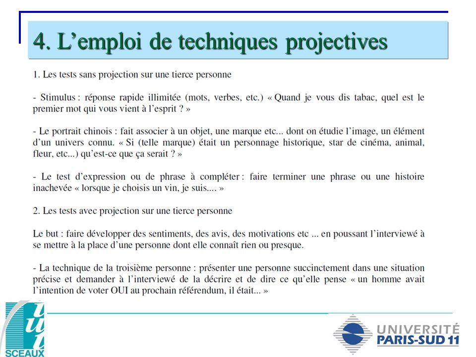 4. Lemploi de techniques projectives