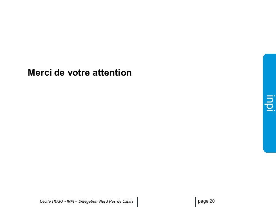 inpi Cécile HUGO - INPI – Délégation Nord Pas de Calais page 19 Comment protéger un logiciel? Droits dauteur Livre I du Code P.I. Brevet d invention L