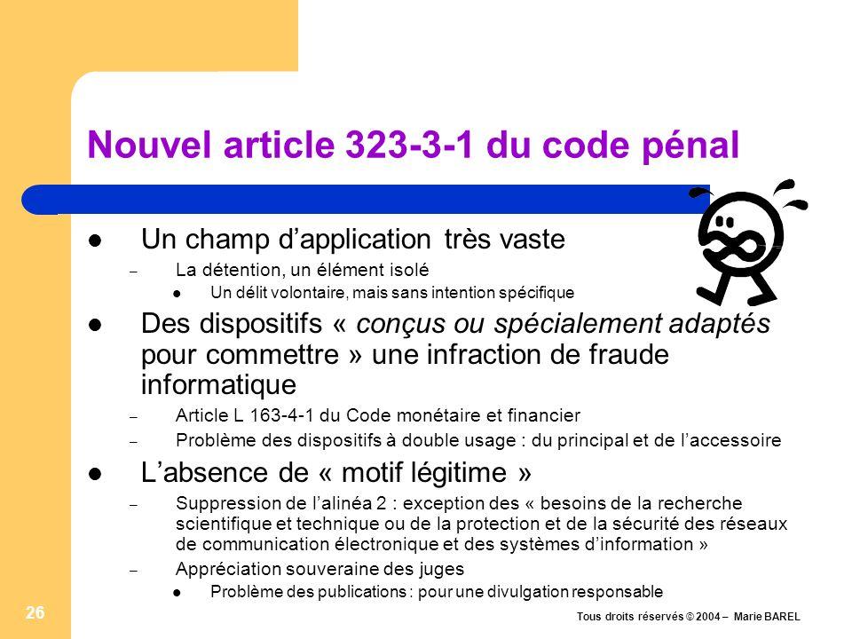 Tous droits réservés © 2004 – Marie BAREL 27 DEBAT CONTACT : marie.barel@legalis.netmarie.barel@legalis.net