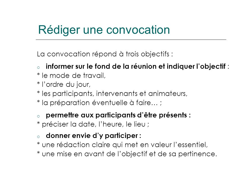 Principes de base de lanimation de réunions 1.