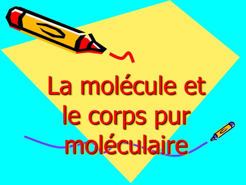 Activité1 Est ce que toutes les molécules sont identiques?