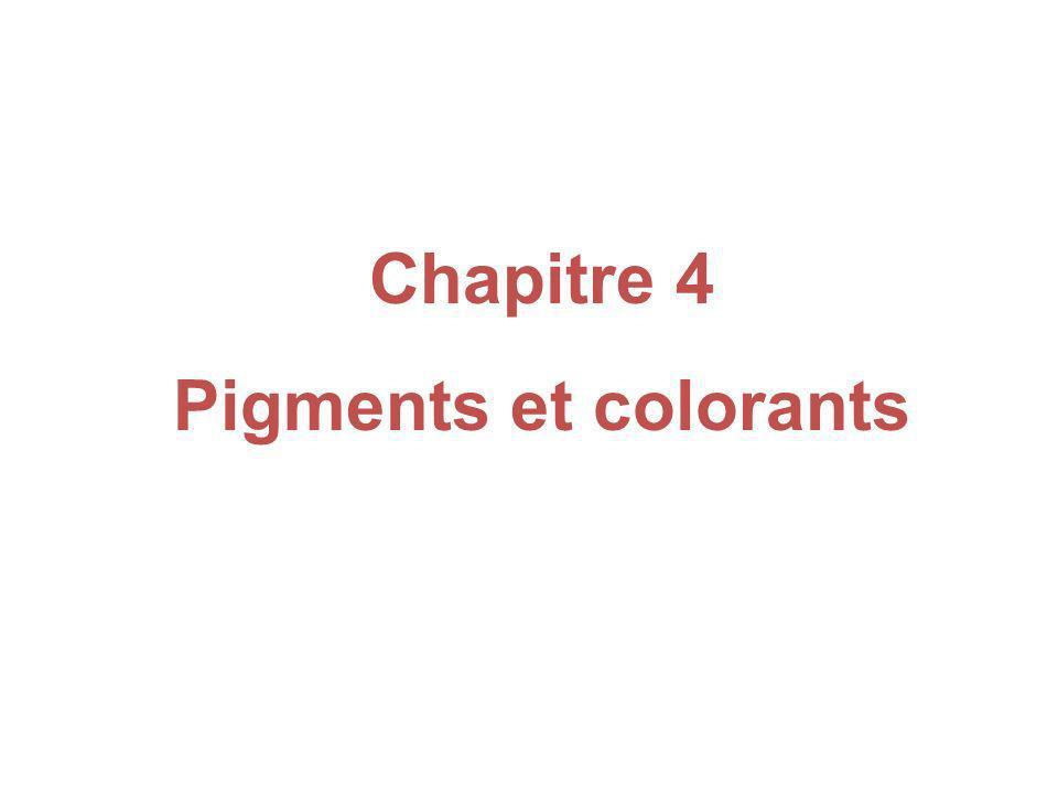 Chapitre 4 Pigments et colorants